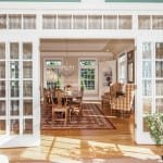 french doors to dining